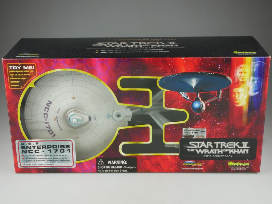 25th Star Trek II USS Enterprise NCC-1701 Wrath of KHAN Battle damaged Ed 111083