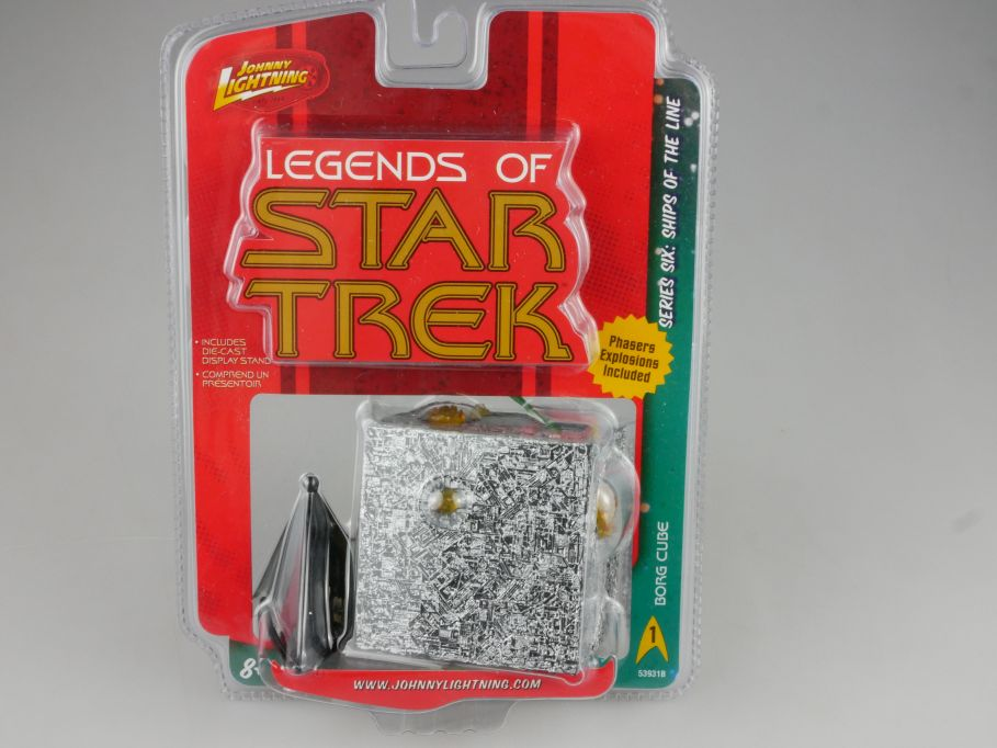 Johnny Lightning Legends of Star Trek Borg Cube Serie 6 ships of the line 111116