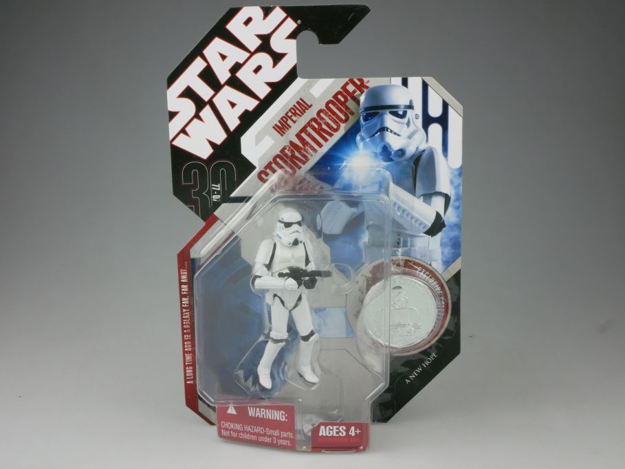 STAR WARS Force 20 30th Imperial Stormtrooper 3 3/4´ Figur & Coin Hasbro 111171
