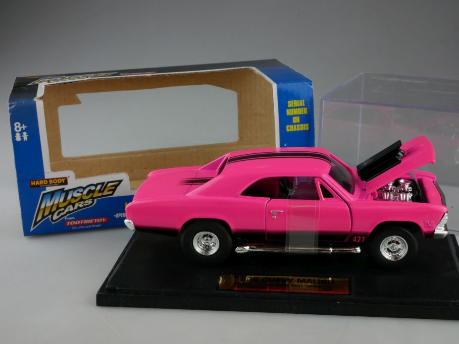 1/32 1966 Chevy MALIBU US Muscle Cars HARD BODY TootsieToy 3280 in Box 111177