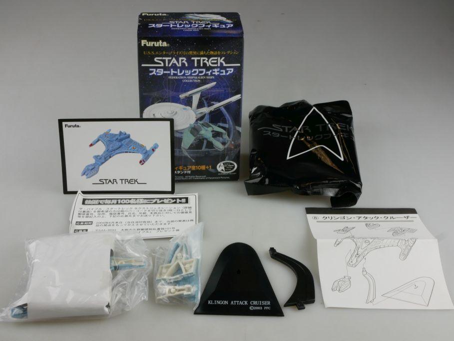 Furuta #8 Star Trek Klingon Attack Cruiser Raumschiff Modell Box 111215