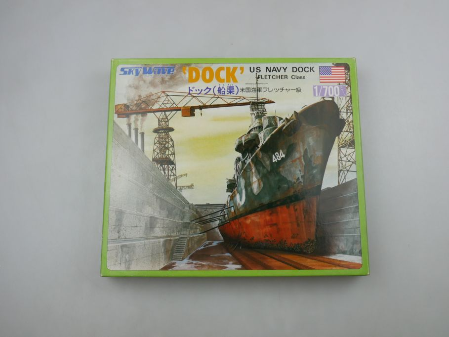 GM 1/700 Sky Wave 'Dock' US Navy Dock Fletcher Class No 7 w/ Box kit 111304