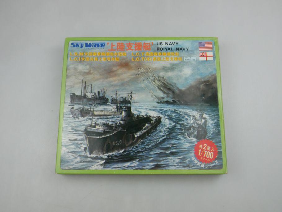 GM 1/700 Sky Wave US Navy Royal Navy L.S.M. L.C.I. L.C.T No 8 w/ Box kit 111306