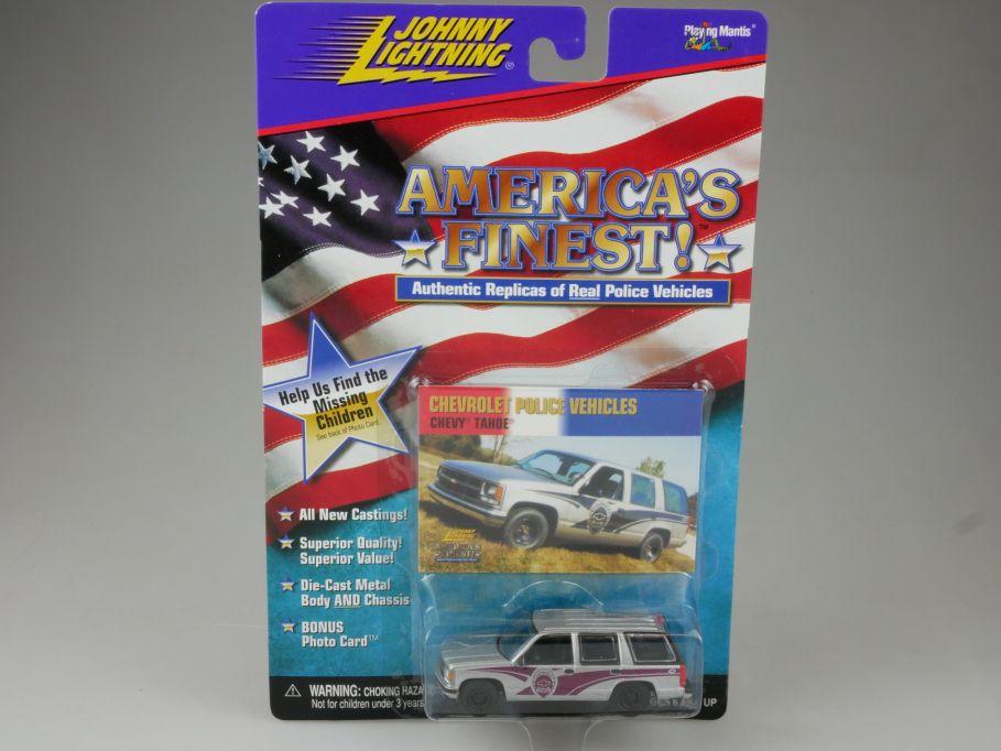 Johnny Lightning 1997 Chevy Tahoe chevrolet Police Americas Finest MOC 111221