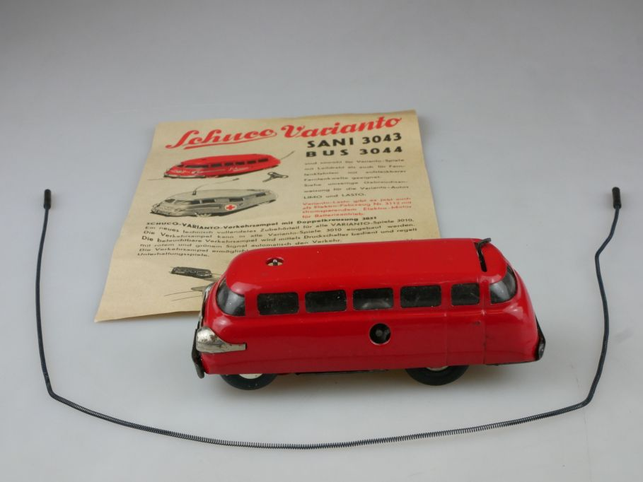 Schuco Varianto Bus 3044 Blech Leitdraht W. Germany vintage tintoy 111355