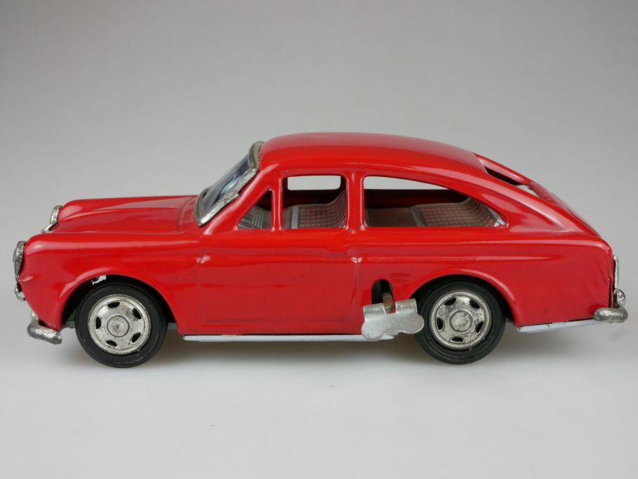 Vintage Ichimura ? Japan Blech Volkswagen VW 1600 litho tin toy wind up 111389