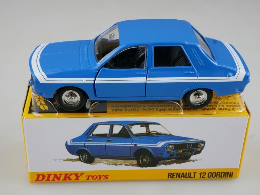 Atlas 1/43 Dinky Toys Renault 12 Gordini 1424 G blau blue w/ Box 111369