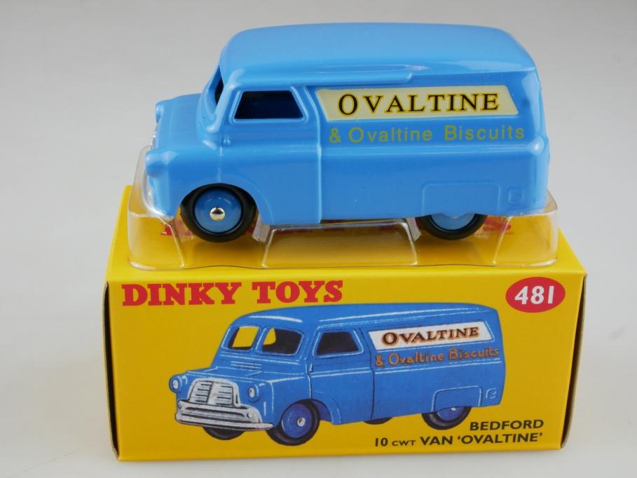 Atlas 1/43 Dinky Toys Bedford 10 CWT Van 'Ovaltine' blau blue w/ Box 111374