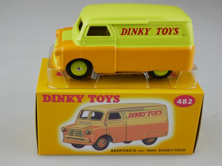 Atlas 1/43 Dinky Toys Bedford 10 CWT Van 'Dinky Toys' 482 orange w/ Box 111375