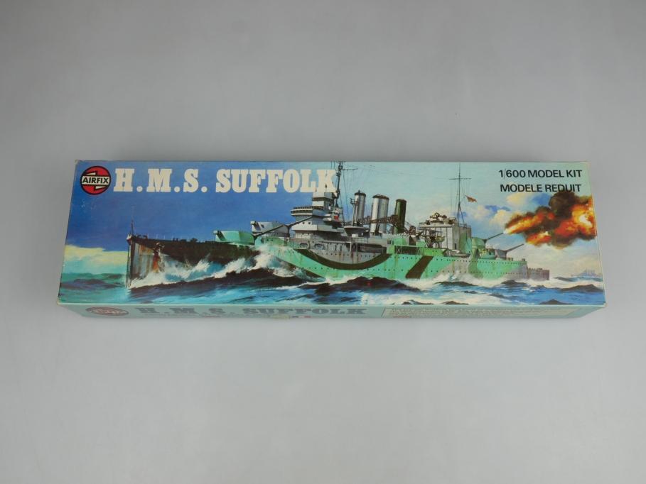Airfix 1/600 H.M.S. Suffolk vintage Sammler w/ Box kit 111411
