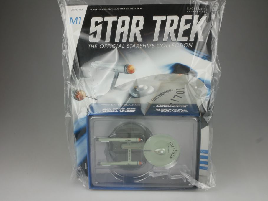 EAGLEMOSS Star Trek M1 ISS Enterprise NCC-1701 Starship Coll. Heft OVP 111456