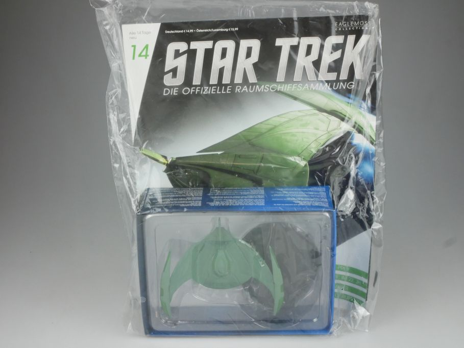 EAGLEMOSS Star Trek 14 Romulanischer Bird-of-Prey Starship Coll. Heft OVP 111458