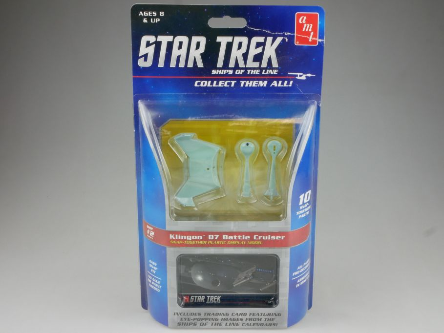 amt STAR TREK #2 Klingon D7 Battle Cruiser 1/2500 Snap kit Amt914/12 Box 111501