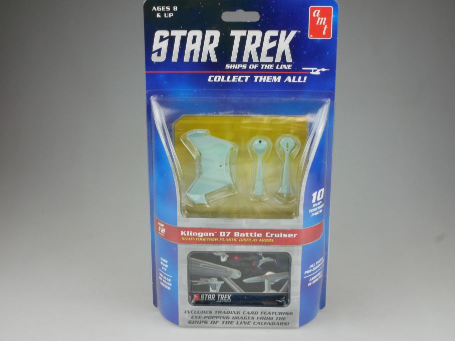 amt STAR TREK #2 Klingon D7 Battle Cruiser 1/2500 Snap kit Amt914/12 Box 111502