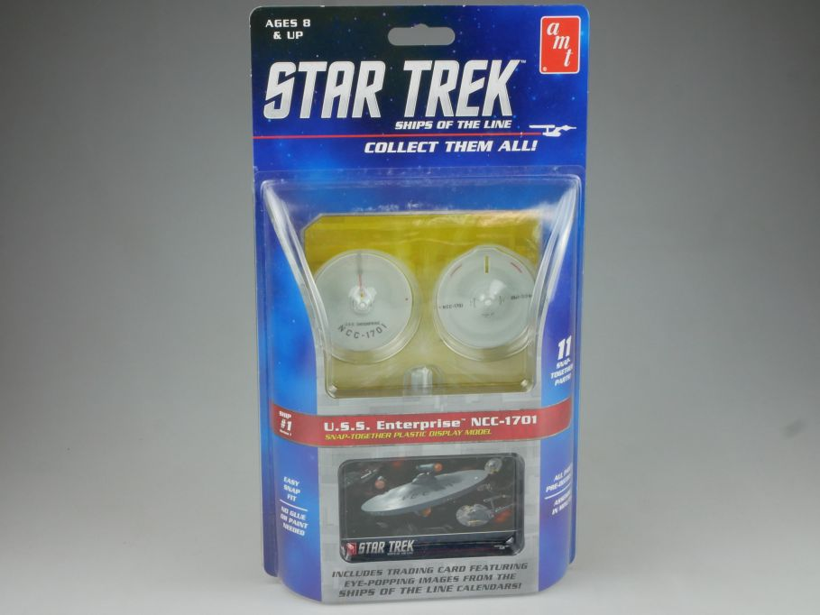 amt STAR TREK #1 USS Enterprise NCC-1701 easy Snap kit Amt914/12 + Box 111503