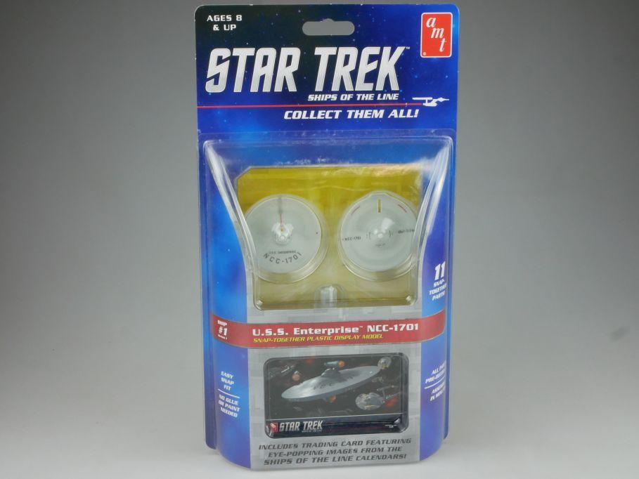 amt STAR TREK #1 USS Enterprise NCC-1701 easy Snap kit Amt914/12 + Box 111503