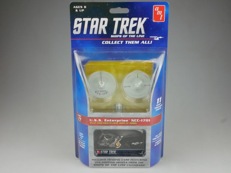 amt STAR TREK #1 USS Enterprise NCC-1701 easy Snap kit Amt914/12 + Box 111504