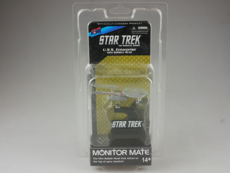 STAR TREK Monitor Mate Mini Bobble Head NCC-1701 USS Enterprise + Box 111507