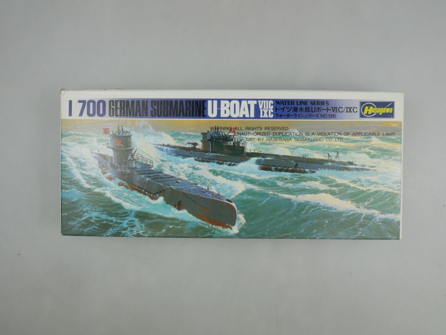 Hasegawa 1/700 German Submarine U-Boat VIIC IXC w/ Box kit 111493