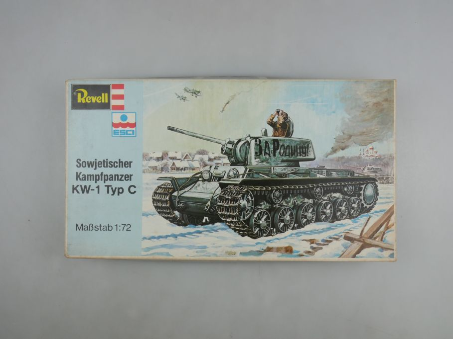 Esci Revell 1/72 Sowjetischer Kampfpanzer KW-1 Typ C vintage w/ Box kit 111581