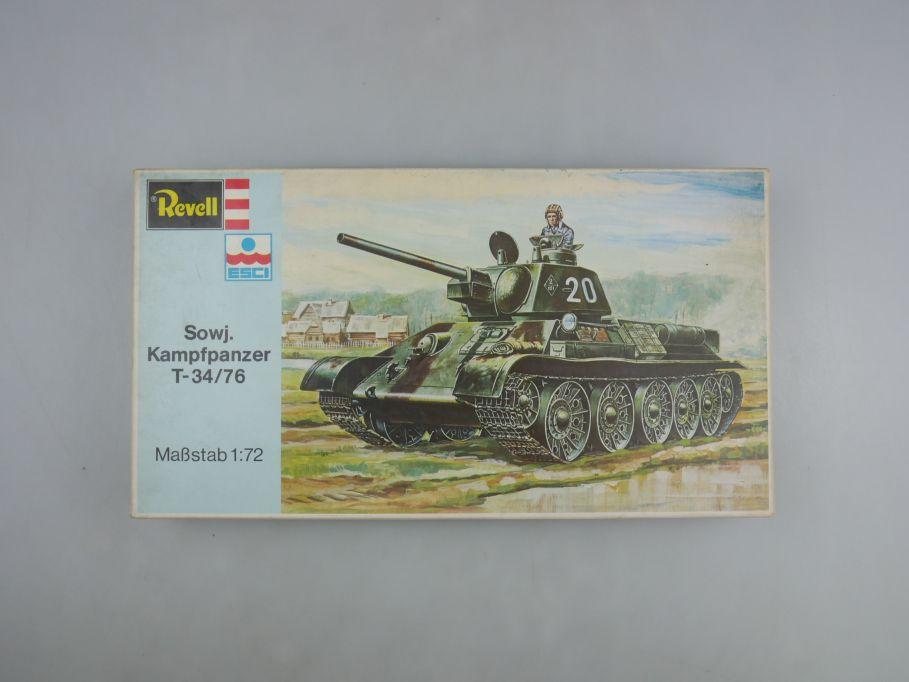 Esci Revell 1/72 Sowjetischer Kampfpanzer T-34/76 vintage w/ Box kit 111583