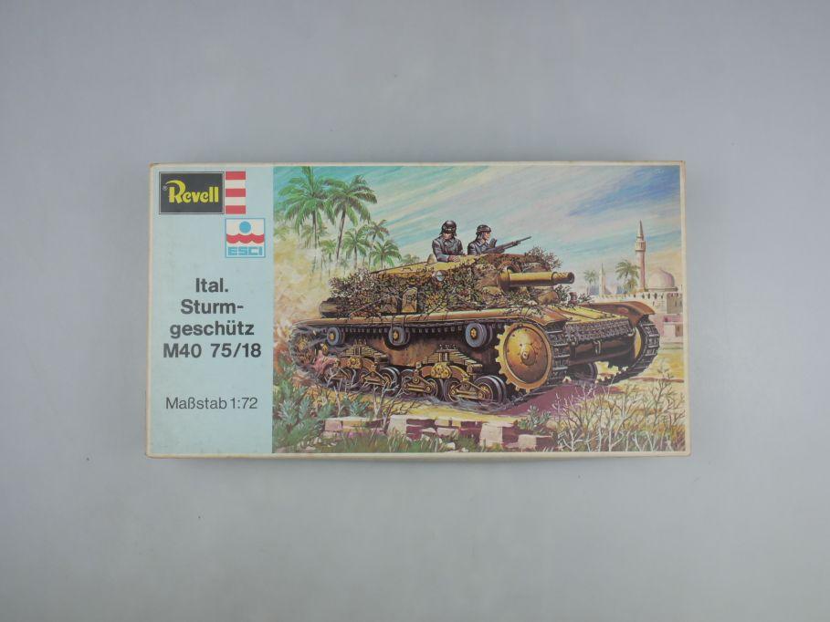 Esci Revell 1/72 Ital. Sturmgeschütz M40 75/18 vintage w/ Box kit 111585
