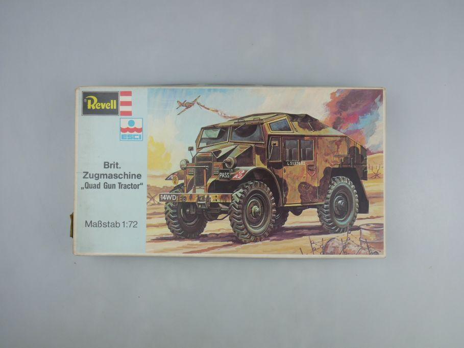 "Esci Revell 1/72 Brit. Zugmaschine ""Quad Gun Tractor"" vintage w/ Box kit 111586"