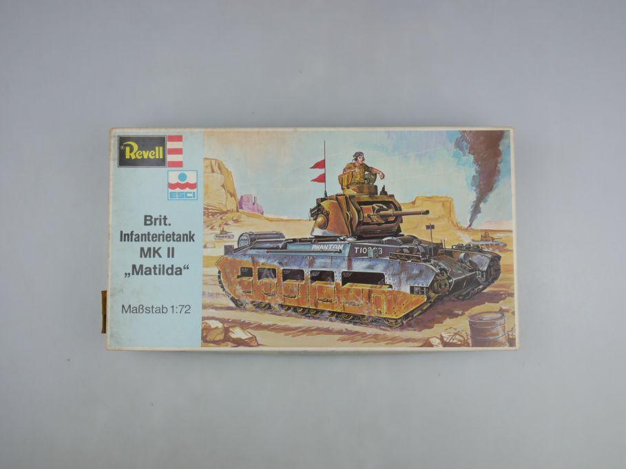"Esci Revell 1/72 Brit. Infanterietank MK II ""Matilda"" vintage w/ Box kit 111588"