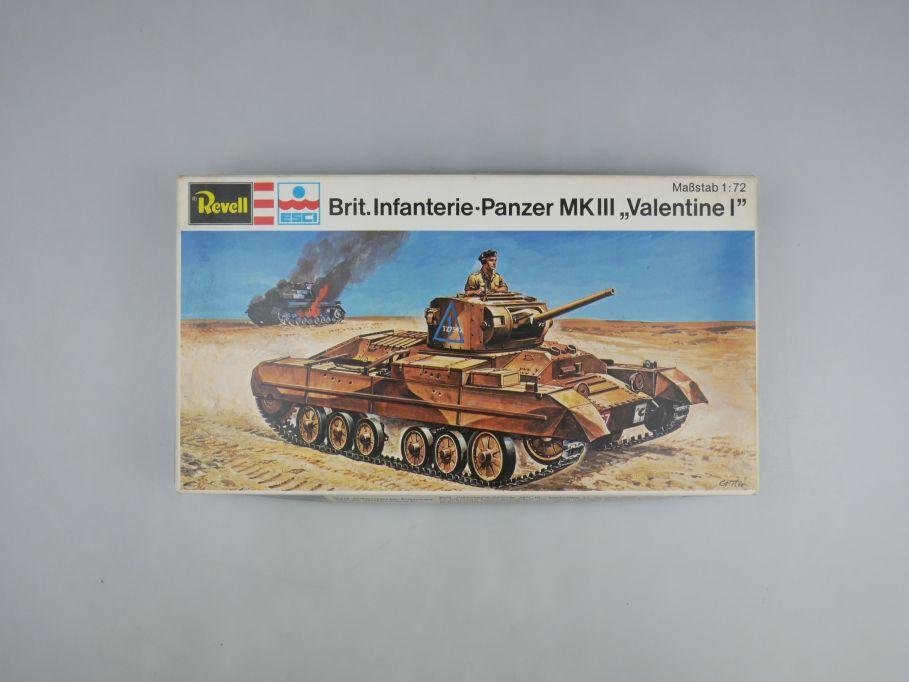 "Esci Revell 1/72 Brit. Infanterie-Panzer MK III ""Valentine I"" w/ Box kit 111589"