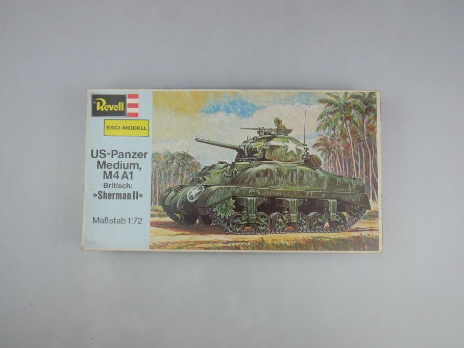 "Esci Revell 1/72 US-Panzer Medium M4 A1 ""Sherman II"" vintage w/ Box kit 111591"