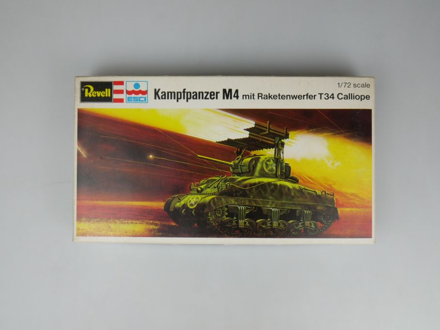 Esci Revell 1/72 Kampfpanzer M4 mit Raketenwerfer T34 Calliope w/ Box kit 111592