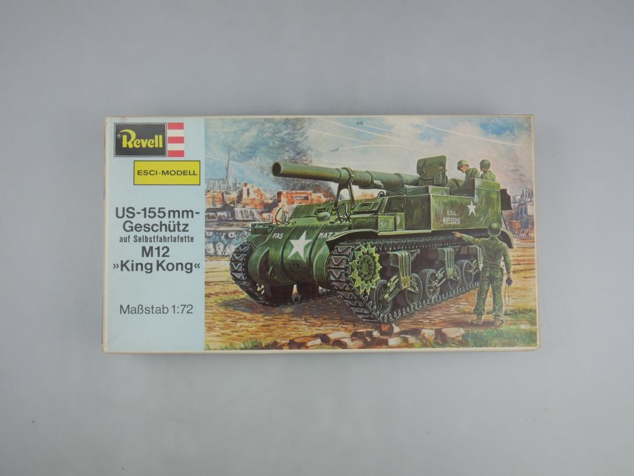 "Esci Revell 1/72 US-115mm-Geschütz M12 ""King Kong"" vintage w/ Box kit 111593"