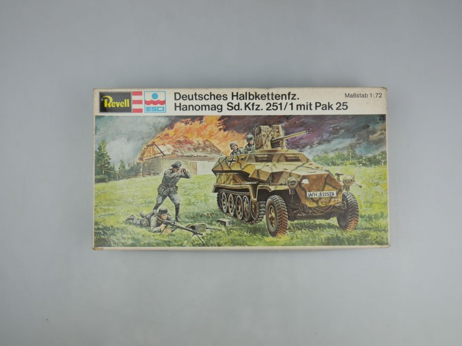 Esci Revell 1/72 Halbkette Hanomag Sd.KFZ. 251/1 mit Pak 25 w/ Box kit 111598