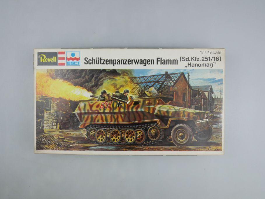 "Esci Revell 1/72 Schützenpanzer Flamm ""Hanomag"" Sd.KFZ.251/16 w/ Box kit 111600"