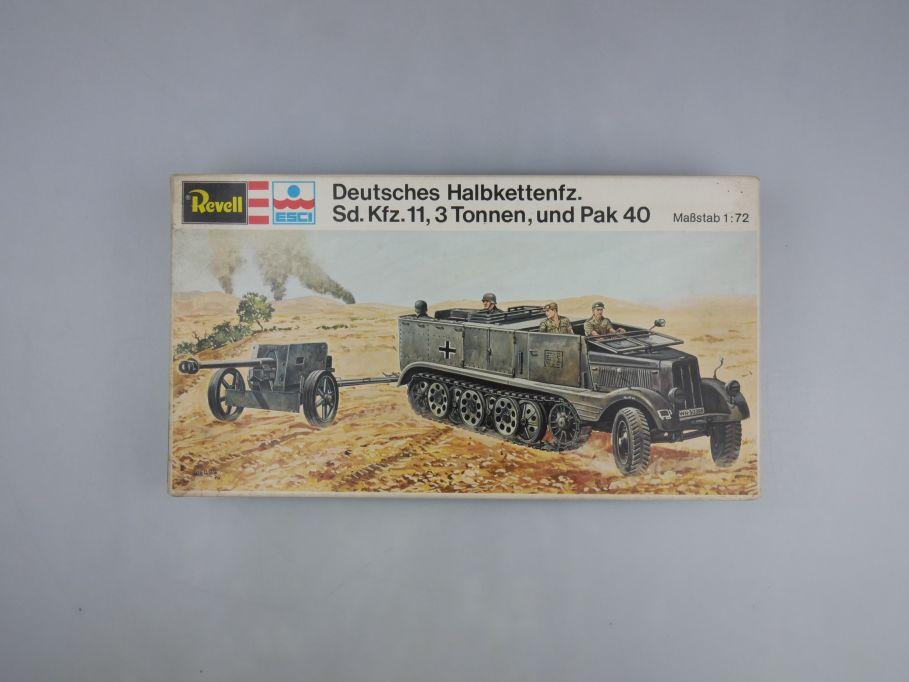 Esci Revell 1/72 Dt. Halbkette Sd.KFZ.11 3t und PAK 40 vintage w/ Box kit 111602
