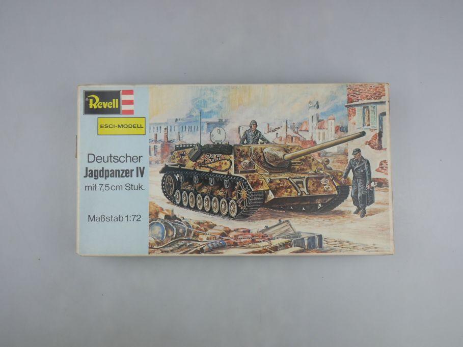 Esci Revell 1/72 Dt. Jadgpanzer IV mit 7,5cm Stuk vintage w/ Box kit 111605