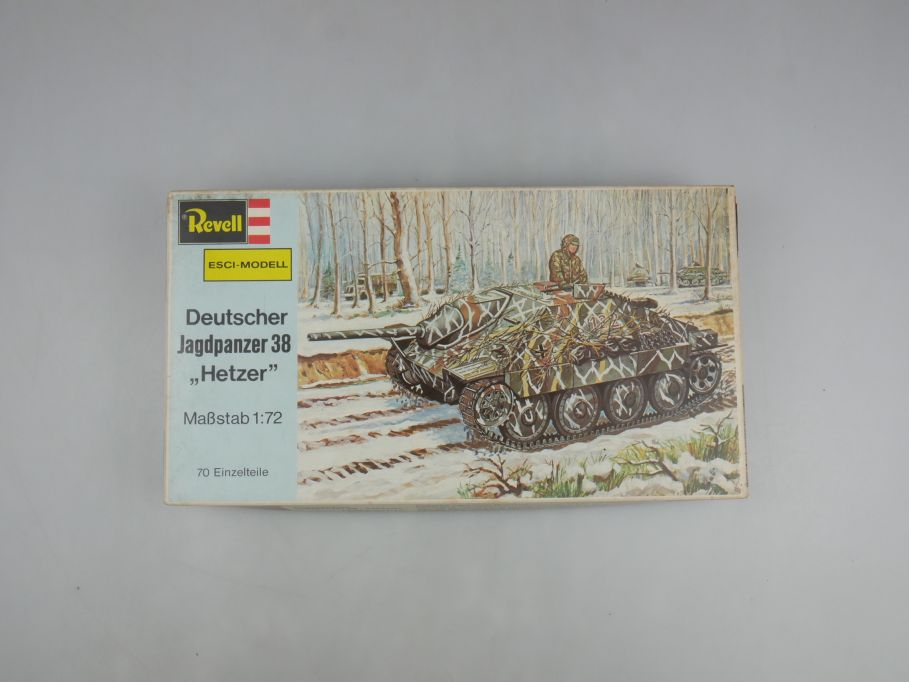 "Esci Revell 1/72 Dt. Jadgpanzer 38 ""Hetzer"" vintage w/ Box kit 111606"