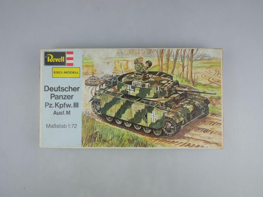 Esci Revell 1/72 Dt. Panzer Pz.Kpfw.III Ausf.M vintage w/ Box kit 111608