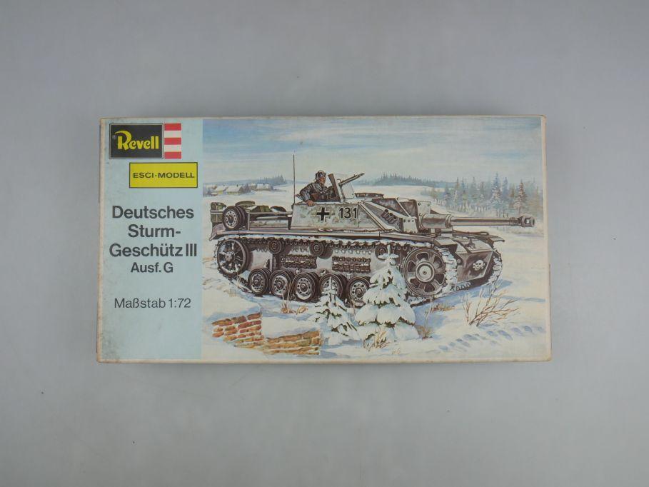 Esci Revell 1/72 Dt. Sturmgeschütz III Ausf.G vintage w/ Box kit 111610