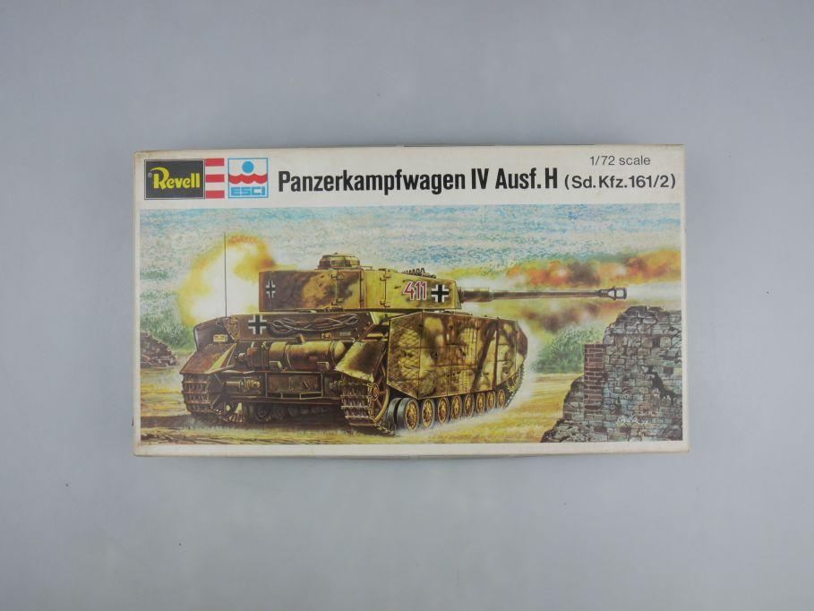 Esci Revell 1/72 Panzerkampfwagen IV Ausf.H vintage w/ Box kit 111611