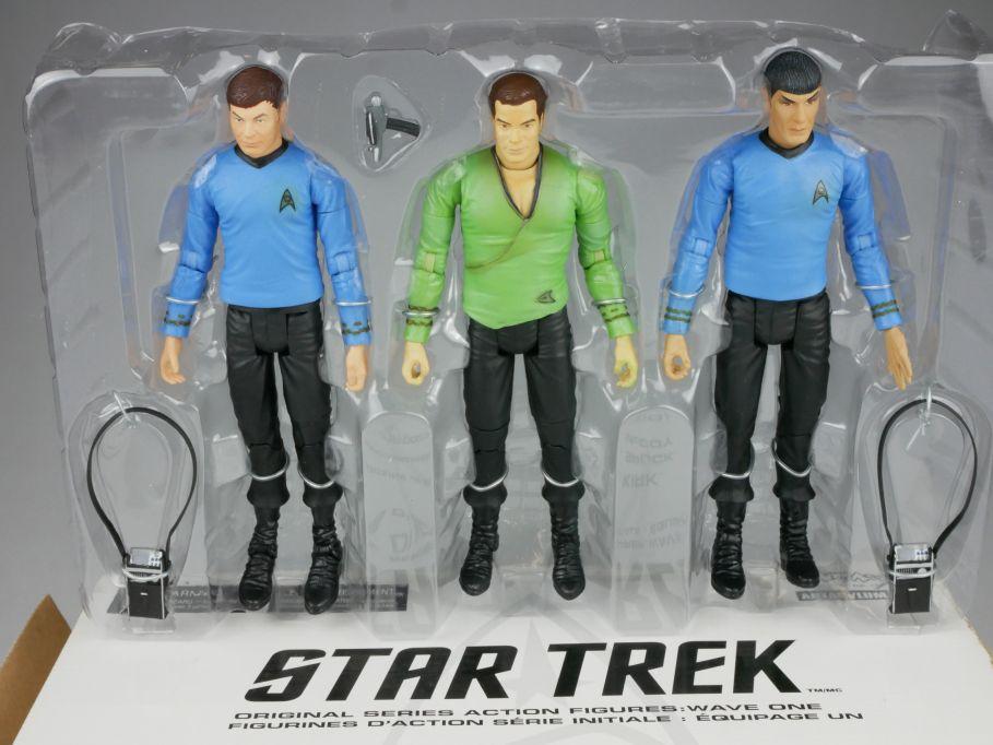 Art Asylum 3x STAR TREK orig series Kirk Spock McCOY 2003 Action Figur 111565