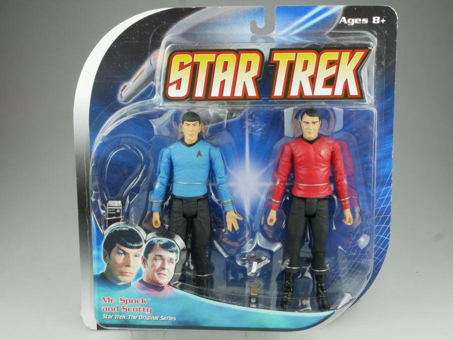 Diamond Select STAR TREK Orig. Series Mr. Spock & Scotty Enterprise 111572