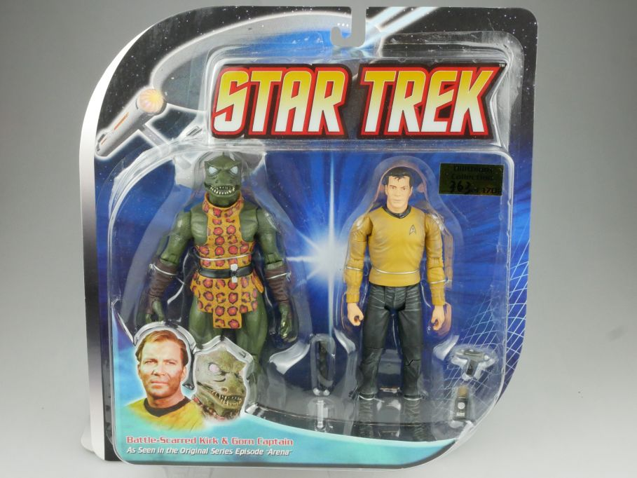 Diamond Select STAR TREK Arena Battle Scarred Kirk & Gorn Capt Enterprise 111573