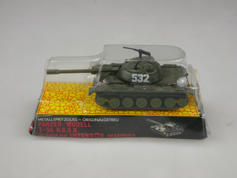 Intertoy 1:100 Metall U.S.S.R. Panzer T-55 No 156 selten vintage Blister 111650