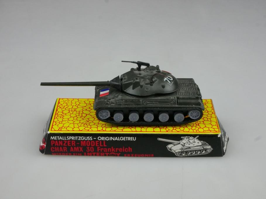 Intertoy 1:100 Metall FR Panzer Char AMX 30 No 152 selten vintage 111653