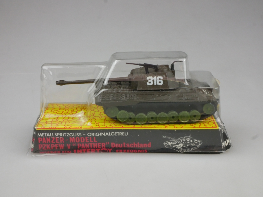 Intertoy 1:110 Metall Dt Panzer PzKpfw Panther No 161 vintage Blister 111656