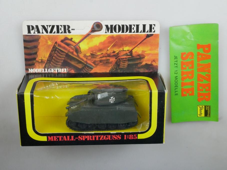 Plasty 1/85 Metall Panzer IV 8361 lose + Prospekt selten vintage Blister 111659