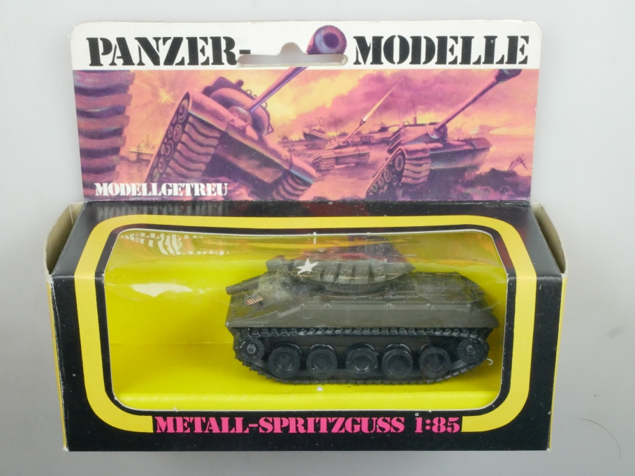 Plasty 1/85 Metall Panzer Sheridan 8360 Sammler selten vintage Blister 111665