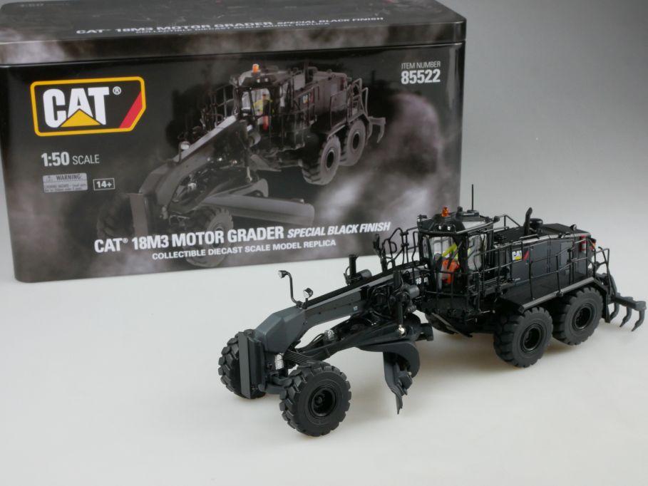 DM 1/50 Diecast Masters Cat 18M3 Motor Grader Black ONYX Finish 85522 111693
