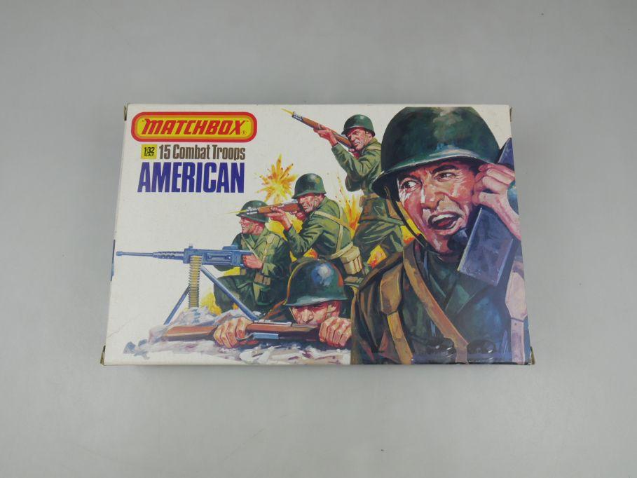 Matchbox 1/32 15 Combat Troops American 40973 figure model kit w/ Box 111698